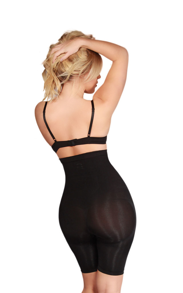 Latest Trending Black Fitted High Waisted Shorts Sexy Intimate Slimming Body Shaper 2018 by Queen of the Crop