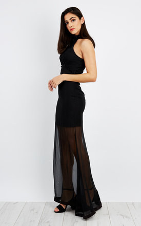 D.anna Beading High-low Hem Dress in Black by D.Anna