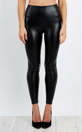 Miyra High Waist Stretch Faux Leather Leggings in Black by Frontrow Limited