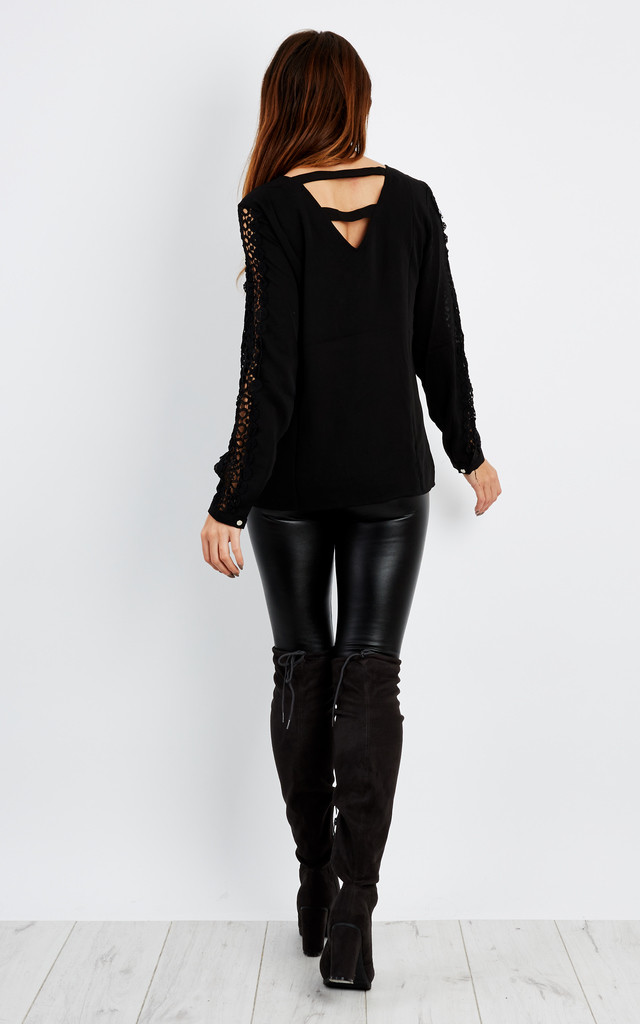 OVERSIZED CROCHET CUT OUT BLOUSE by Aftershock London