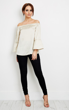 Stone Bell Sleeve Off The Shoulder Top by Lilah Rose