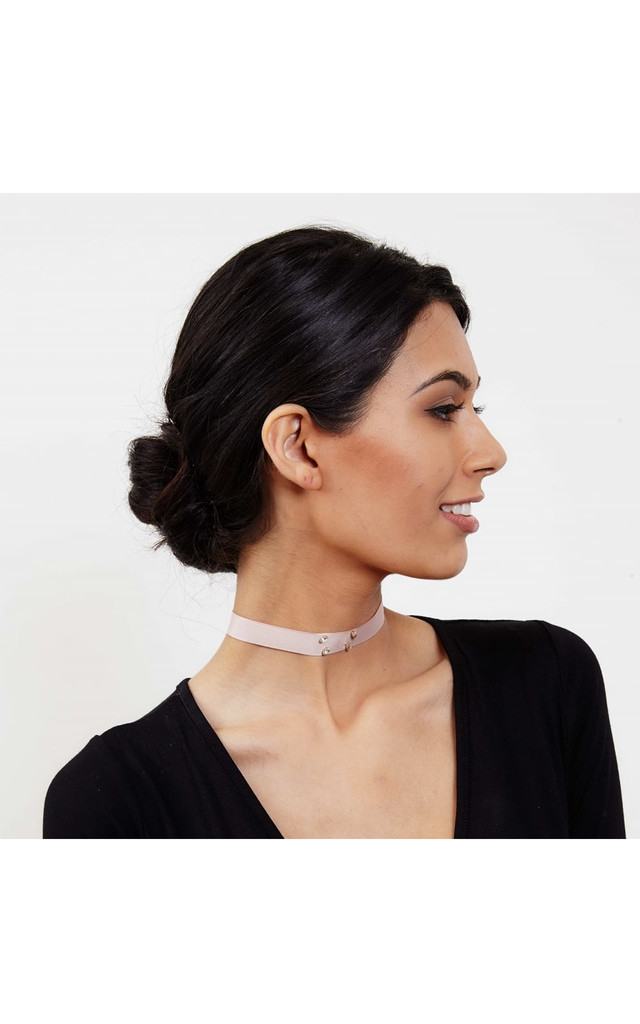Mia Blush Ribbon Choker Necklace by Johnny Loves Rosie