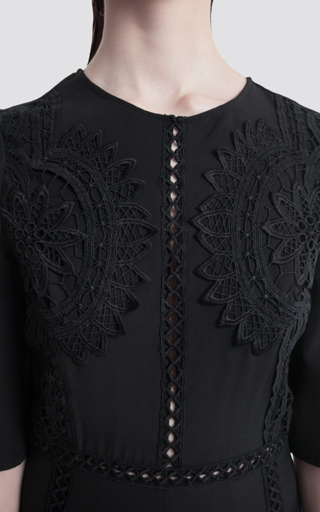 Lace Overlay Playsuit by Moth Clothing