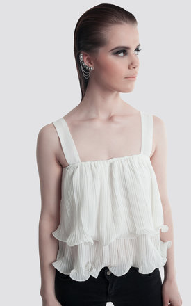Ruffle Pleated Top by Moth Clothing