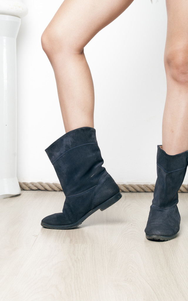 80s vintage suede leather ankle boots by Pop Sick Vintage