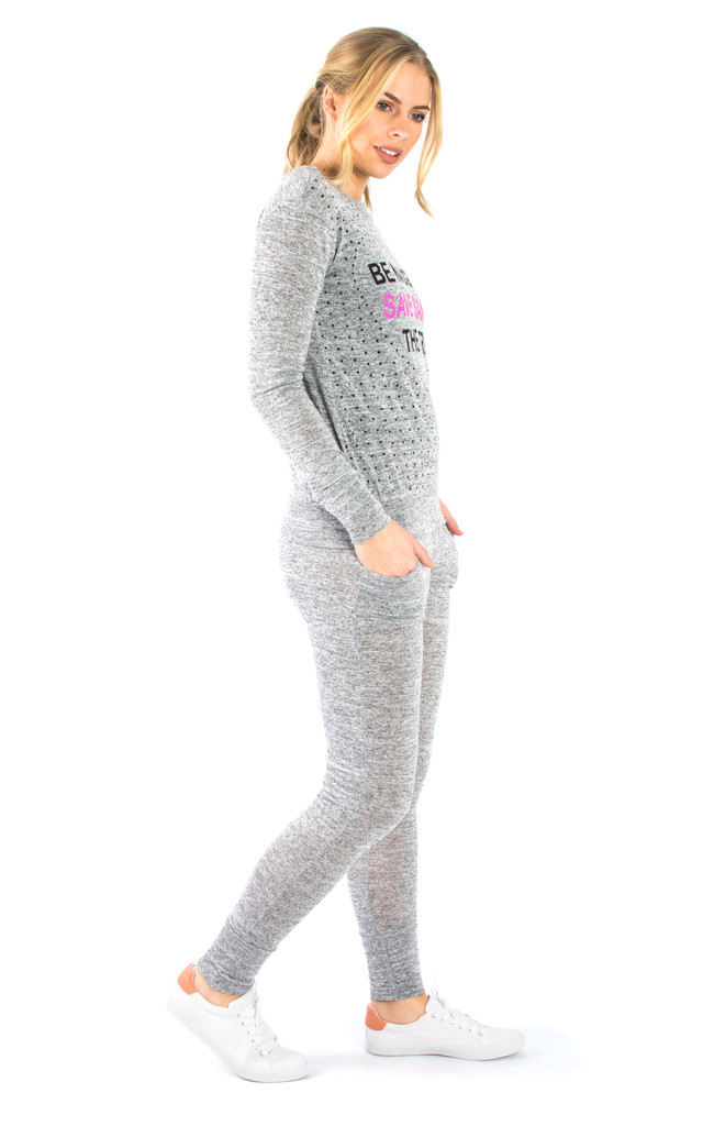 Santa Slogan Loungewear Set - Grey by Npire London