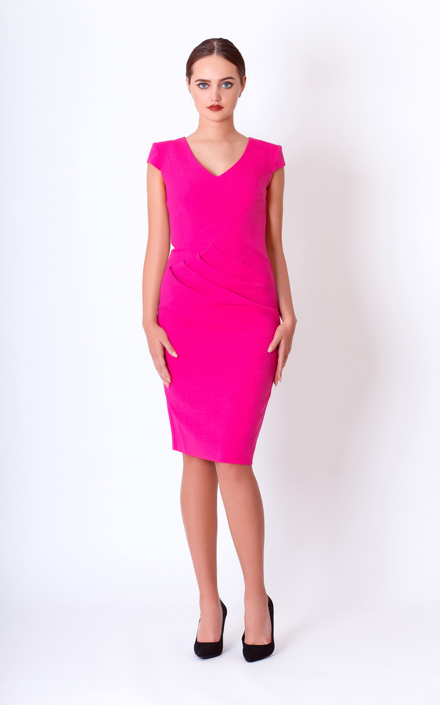 summer midi pencil dress for wedding by JEVA FASHION