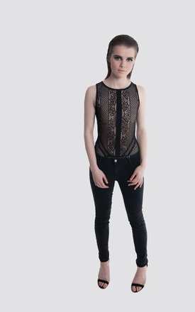 Black Lace Bodysuit by Moth Clothing