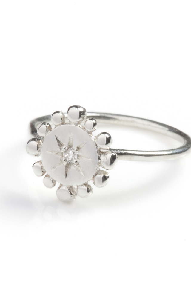 Silver Diamond Ring : Bobble & Twinkle by Frillybylily