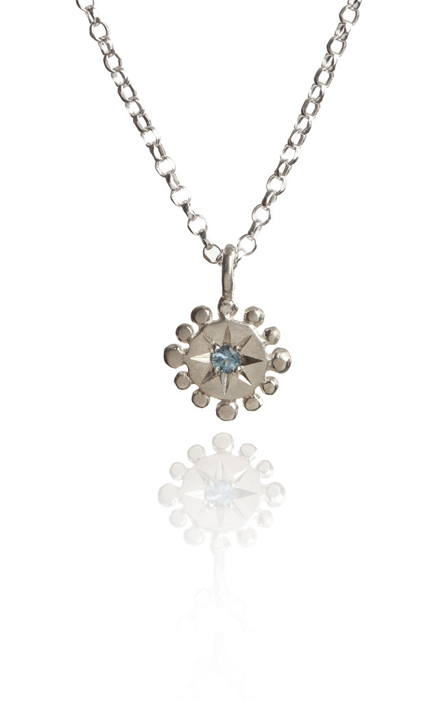 Silver Gemstone Necklace : Bobble & Twinkle by Frillybylily