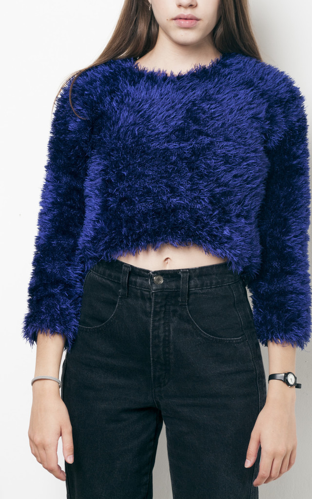 90s vintage fluffy furry knit jumper by Pop Sick Vintage