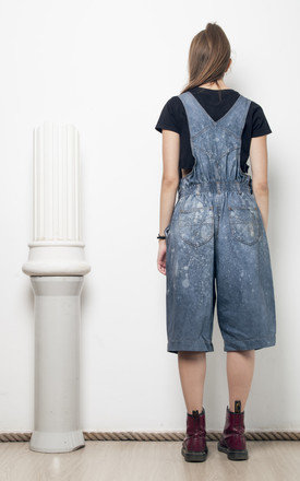 90s vintage reworked hand dyed dungarees by Pop Sick Vintage