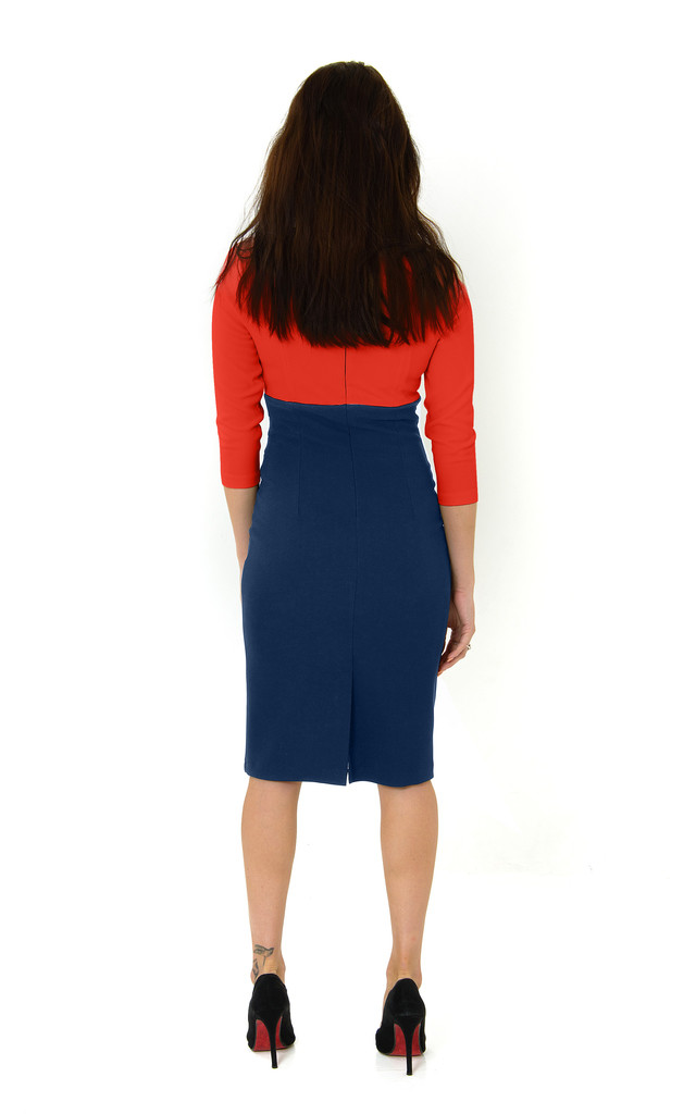The Loretta red/Navy by Off the Catwalk