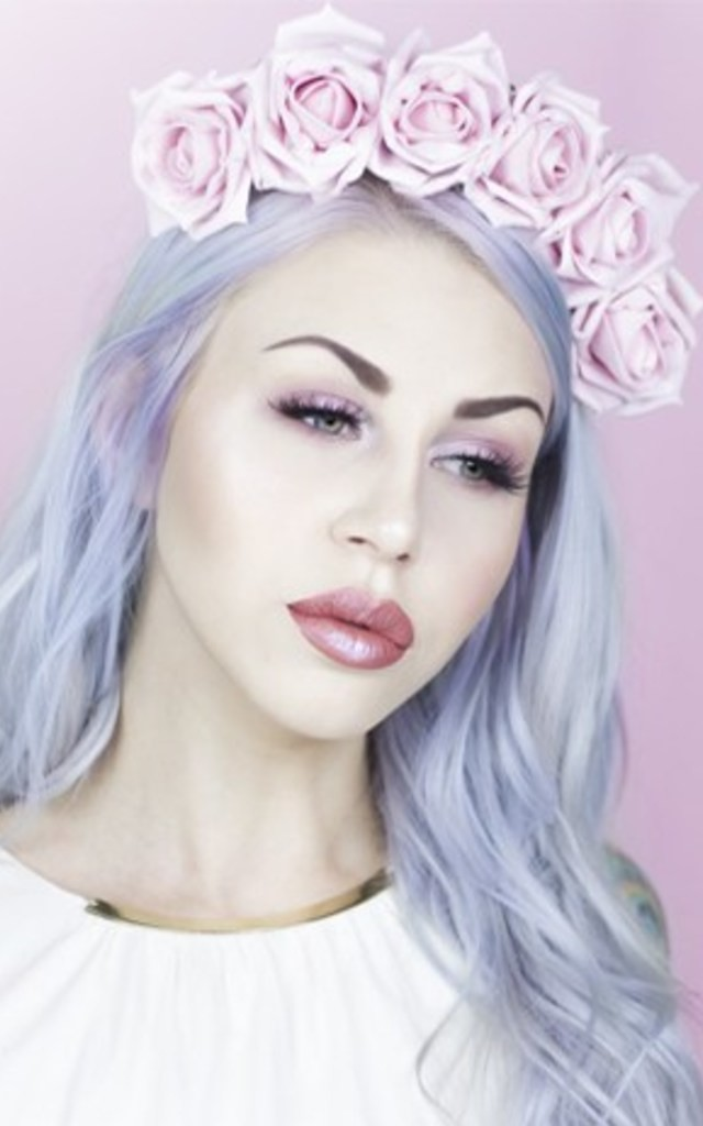 TALIA - Pastel Pink Rose Flower Crown by LULU IN THE SKY