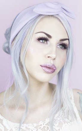 Lilac Moleskin Soft Feel Wire Headband by LULU IN THE SKY