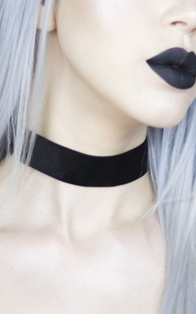 Black Wide Luxe Velvet Choker by LULU IN THE SKY
