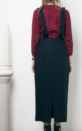 90s vintage button front dungaree skirt by Pop Sick Vintage