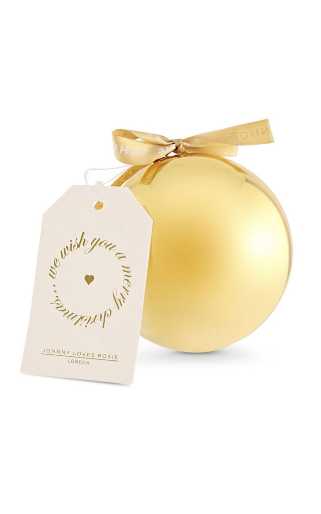 Gold Bauble Necklace by Johnny Loves Rosie