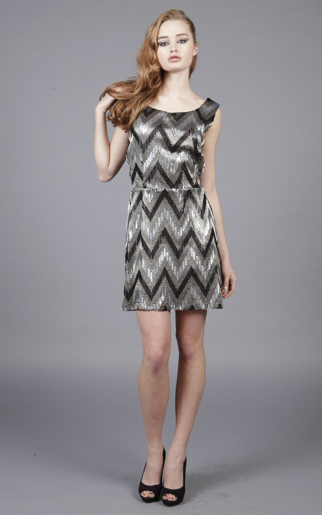 Cutie Zigzag Sequin Dress by Cutie London
