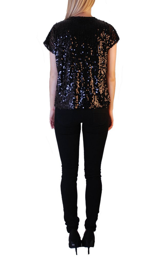 Cutie Fully Sequined Top by Cutie London
