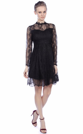 Cutie Elegant Long Sleeved Lace Dress by Cutie London