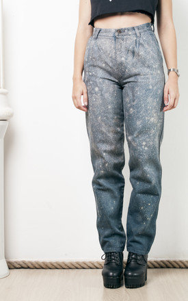 80s vintage reworked hand dyed trousers by Pop Sick Vintage