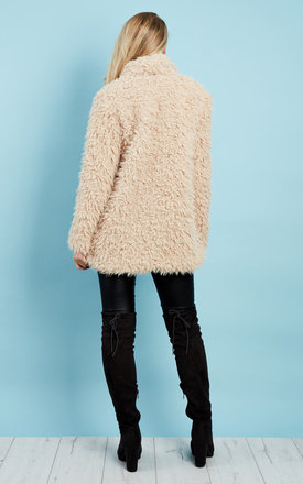 Nude Fluffy Cloud Jacket by Kiss The Sky