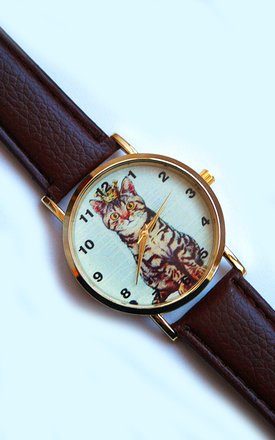 Cat with Crown Watch by Tallulah's Threads