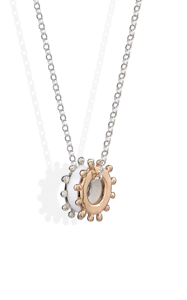 Silver and Rose Gold Perspex Necklace : Bobble & Twinkle by Frillybylily