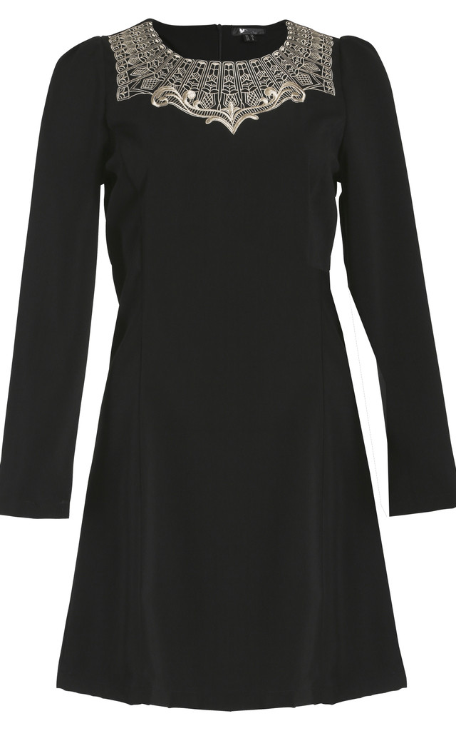 Cutie Embroidered Neck Dress by Cutie London