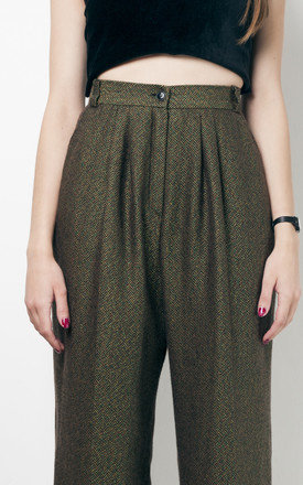 80s vintage pleated cropped trousers by Pop Sick Vintage