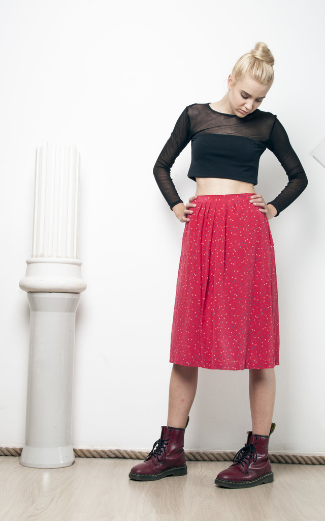 80s vintage pure silk skirt by Pop Sick Vintage