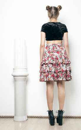 80s vintage floral frill skirt by Pop Sick Vintage