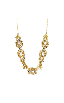 Johnny Loves Rosie Meg Gold Statement Necklace by Johnny Loves Rosie