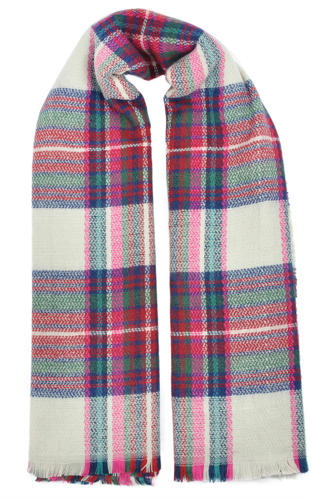 TARTAN PATTERN OVERSIZE WRAP SCARF by GOLDKID LONDON