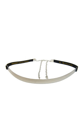 Rosie Silver And Metal PU Mila Mix Belt by Johnny Loves Rosie