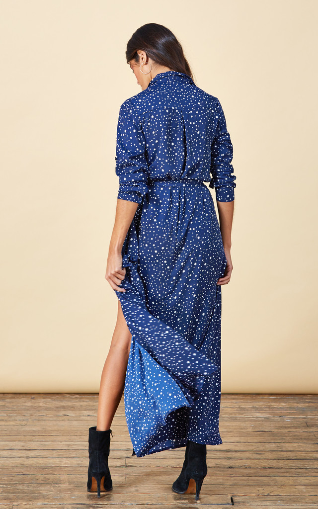 Maxi Shirt Dress in Navy Star image