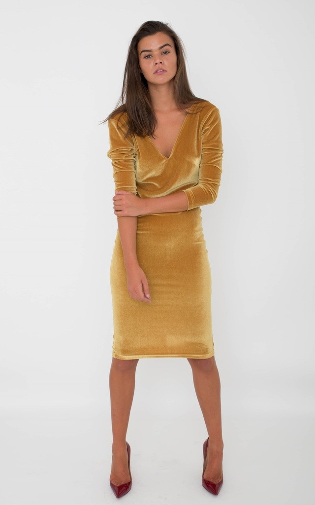 Gold Velvet Dress by ceekit