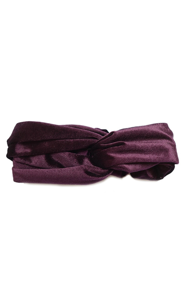 Purple Megan Velvet Headband by Johnny Loves Rosie