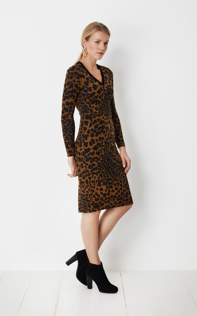 Leopard print jersey dress by No Ordinary Suit