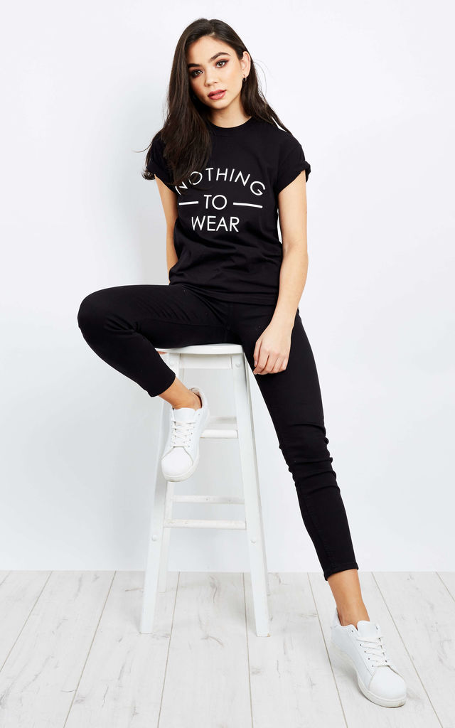 Nothing to Wear Black T-Shirt by Love