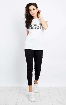May Contain Prosecco White T Shirt by Love Product photo