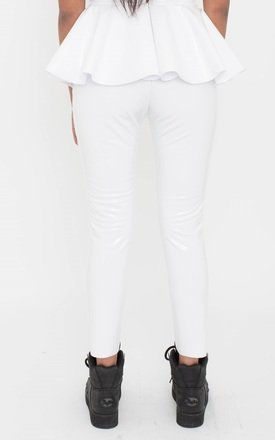 White Flying Saucer Co-ord Trouser by ceekit