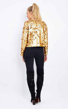 SEQUIN DETAIL LONG SLEEVE JACKET by Aftershock London