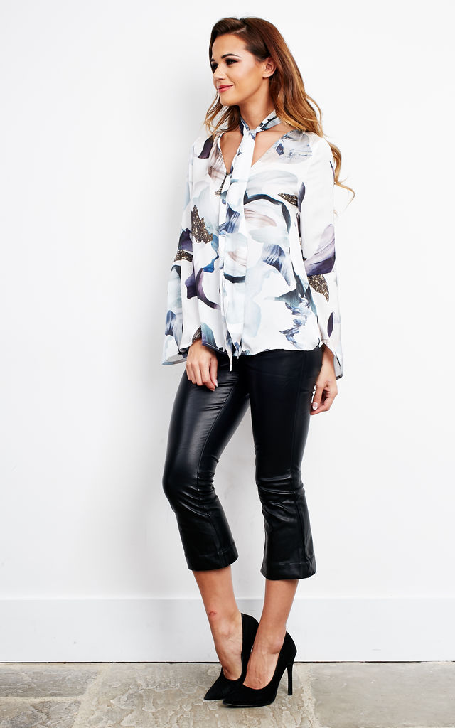 ELEMENTAL TIE NECK BLOUSE by Neon Rose