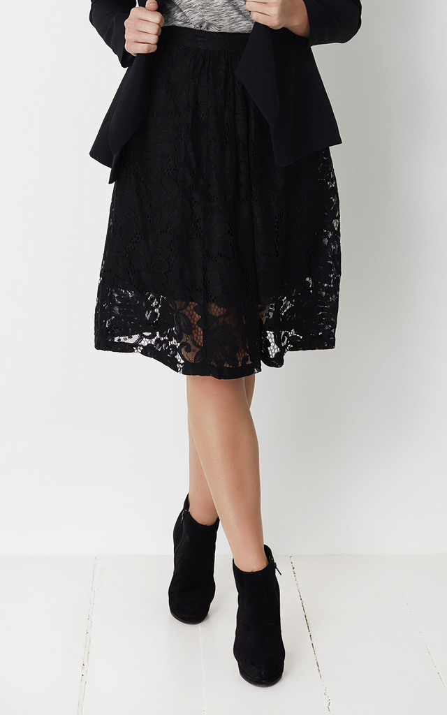 Black Lace Skirt by No Ordinary Suit