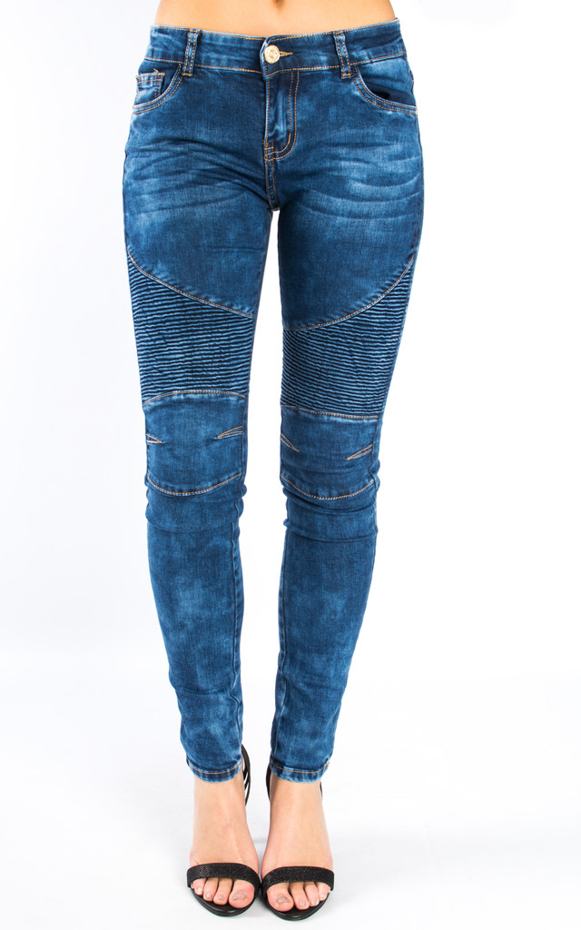 Mid Rise Slim Fit Denim Jeans – Wave Blue by Npire London
