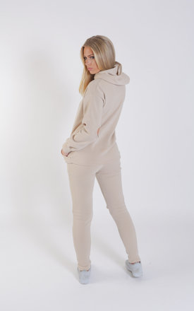 Cut Out Knee and Elbow Loungewear Set - Stone by Npire London