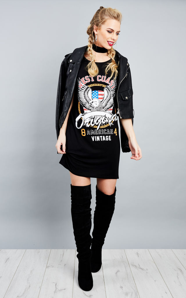 Celeb Inspired East Coast T-Shirt Dress by Lilah Rose