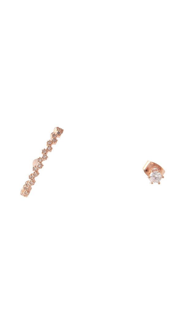 Asymmetric Wave Hook Earrings Rose Gold by DOSE of ROSE